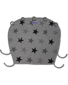 Dooky Universal Cover Design Grey Stars