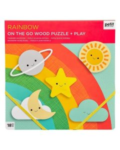 Petit Collage Chunky Puzzle Rainbow