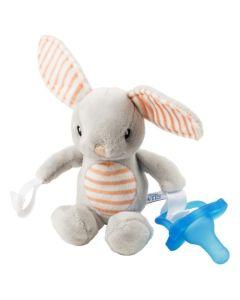 Dr. Brown's dječja igračka zeko sa silikonskom dudom varalicom 0+ mjeseci