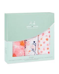 Aden+Anais Set 3 Musy Pelene Petal Blooms