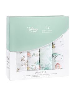 Aden+Anais Set 4 Pamučne Dekice/Pelene Disney Kralj Lavova