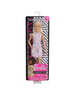 Barbie Fashionista lutka u ružičastoj haljini - Mattel