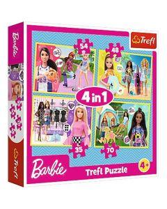 Barbie svijet 4u1 puzzle - Trefl