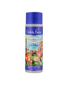 Childs Farm 2u1 Šampon i Regenerator Organic Rhubarb and Custard