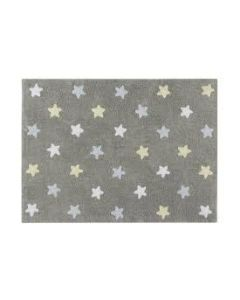 Lorena Canals Tepih  Estrelas Tricolor Stars Grey-Blue