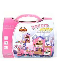 Dream Home pink kućica za lutke u kovčegu