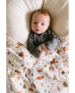 Louloulollipop Swaddle Forest Friends