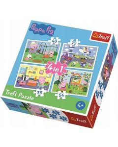Peppa Praščić 4u1 puzzle - Trefl