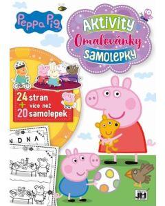 Peppa Praščić bojanka sa 20 naljepnica