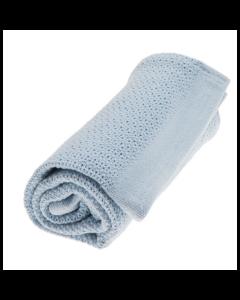 Vinter&Bloom plava deka Soft Grid True Blue