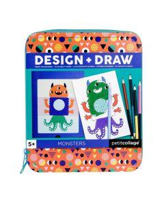 Petit Collage Dizajniraj i Nacrtaj Set Čudovišta