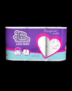 Kuhinjski ručnik Teta Violeta 3/1, 3sl. LOVE