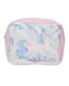 Toaletna torbica - Glitter - unicorn