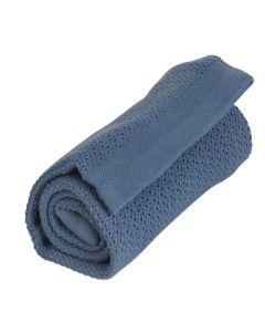 Vinter&Bloom deka Soft Grid Denim Blue