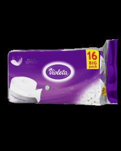 Violeta Toaletni papir 16/1, 3-sloja, premium, bez boje i mirisa