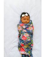 Louloulollipop Swaddle- Midnight Bloom